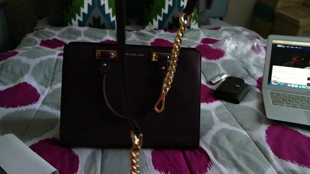 efc99e601bf90f Quinn Large Saffiano Leather Satchel PLUM - YouTube