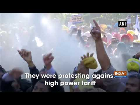 Watch: Police Use Water Cannon On AAP Workers Protesting In Chandigarh