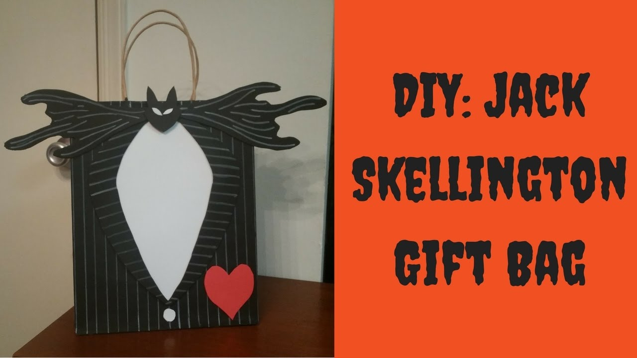 halloween diy nightmare before christmas gift bag how to decorate a gift bag youtube