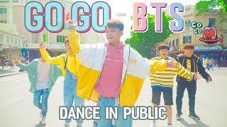 [KPOP IN PUBLIC 00:40] BTS - GO GO *Anh Tóc Xanh & Anh Bốn Mắt  Nhảy Ngoài Đường Phố*