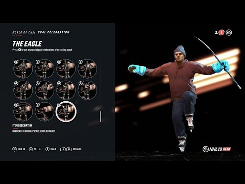 FIRST LOOK AT NHL 19 NEW CELEBRATIONS!
