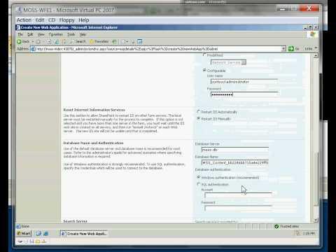 SharePoint Server 2007 Farm Installation - Part 8 Create SSP