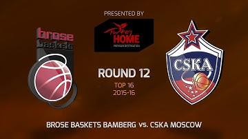 Highlights: Brose Baskets Bamberg-CSKA Moscow