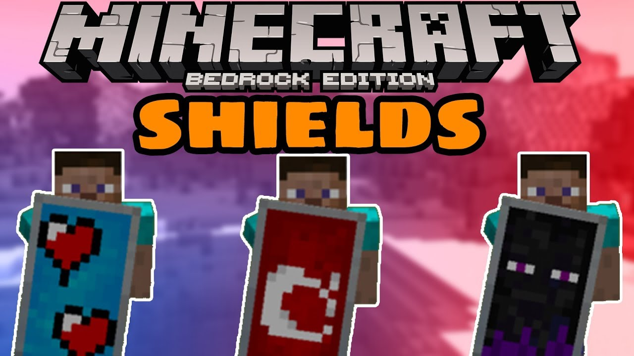 How To Get Amazing Custom Shields In Minecraft Bedrock Youtube