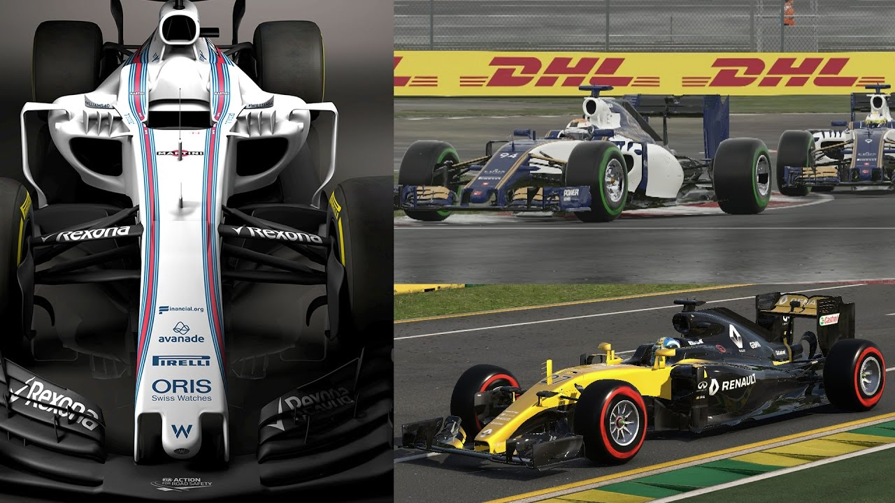 f1 2017 mod renault rs17 williams fw40 sauber c36 in f1 2016 game youtube. Black Bedroom Furniture Sets. Home Design Ideas
