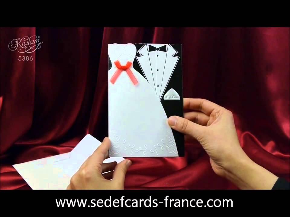 Connu sedef cards kivilcim 5386 faire part original habillé robe et  JL98