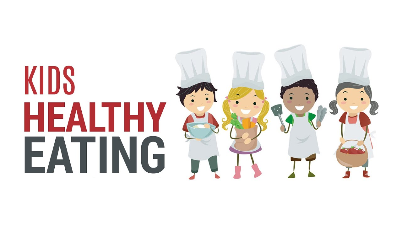 Kid Eating Healthy Food Clipart