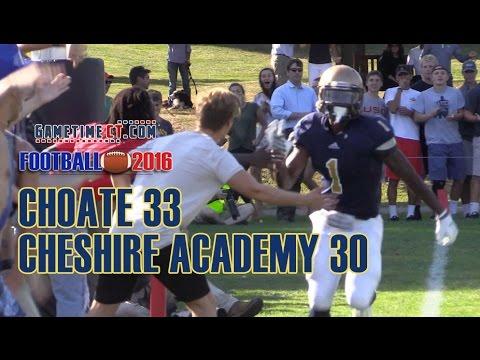Football 2016: Choate 33 Cheshire Academy 30