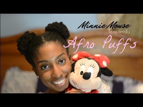 Hairstyle Minnie Mouse Inspired Afro Puffs Youtube