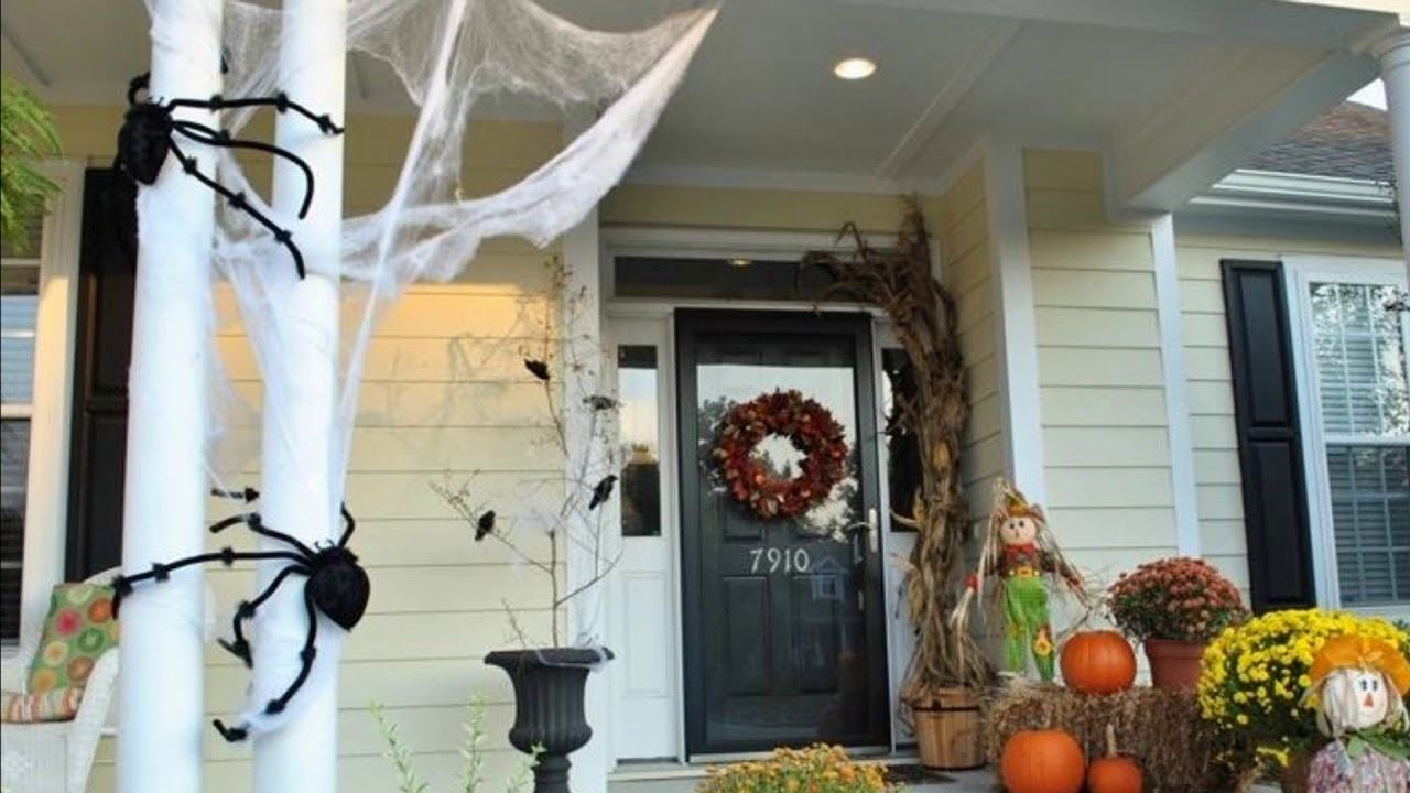 2017 halloween front porch ideas 3 - youtube