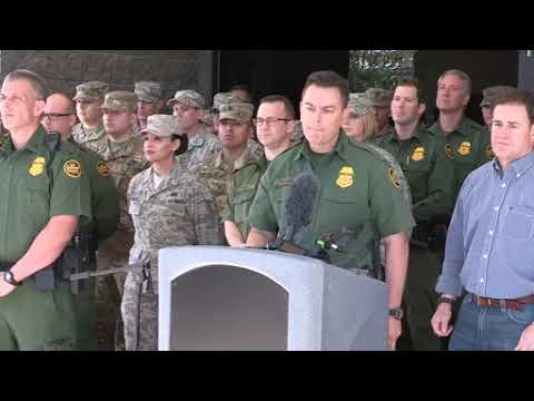 Press Conference, Tucson Sector Chief Patrol Agent Rodolfo Karisch and Arizona Governor Doug Ducey