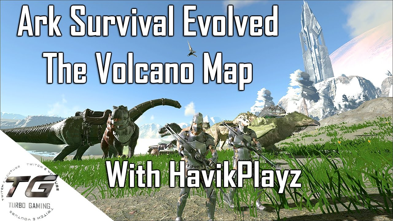 The Volcano Map Ark Mod