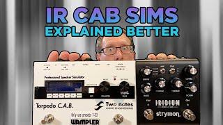 Impulse Response Cab Sims Explained Better