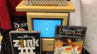 Apple Macintosh 128k Customized Restoration & Software Collection Zork 3 Ultima IV Hitchhikers Guide