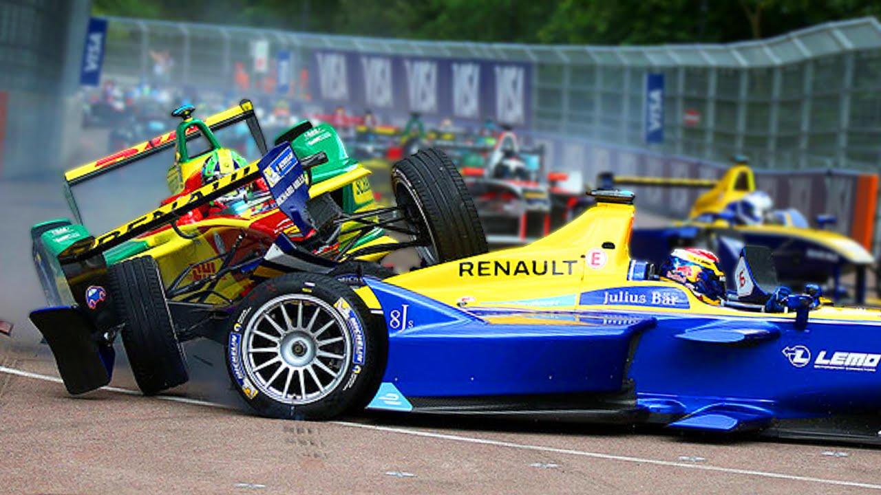 All Major Crashes In Formula E Season 2