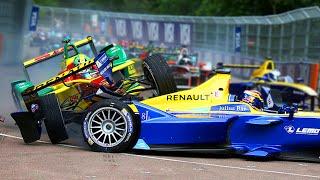 All Major Crashes In Formula E Season 2!