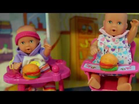 Baby Doll Potty Training - Barbie baby doll eat & poop - fun potty toy My Disney Toys