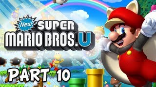 New Super Mario Bros. Wii U Walkthrough - Part 10 Cheep-Cheep Frustration Let's Play WiiU Gameplay