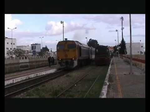 Tunisia - SNCFT 060-DP-151 departs Manouba with 15:10 Tunis Ville - Gardimaou 14/01/2009
