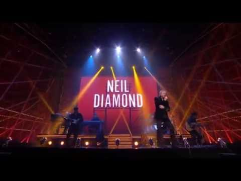 NEIL DIAMOND - SONG SUNG BLUE , CRACKLIN ROSIE  (LIVE-2014)