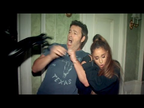 Andy and Ariana Grande's Haunted House Adventure on Ellen Show