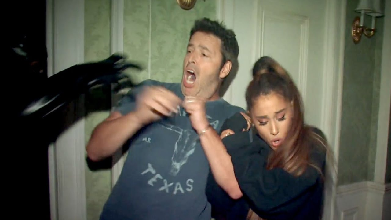 Andy And Ariana Grande S Haunted House Adventure On Ellen Show Youtube
