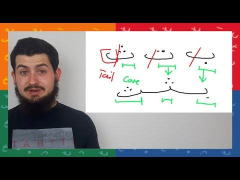 How to join Arabic letters: TOP TIP || ARABIC SCRIPT AND WRI