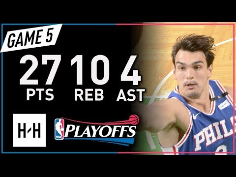 Dario Saric Full Game 5 Highlights 76ers vs Celtics 2018 NBA Playoffs - 27 Pts, 10 Reb, 4 Ast!