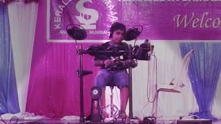 Funky Walker drum cover at Keraleeya Samajam Onam celebration 2017