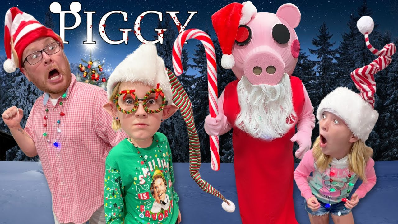 Roblox PIGGY In Real Life - Christmas Edition with the NOOB Family