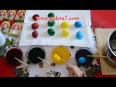 Farbanje Jajca - Kapsuli Za Obojuvanje Na 50 Veligdenski Jajca - Paleta 7