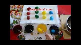 Repeat youtube video Farbanje Jajca - Kapsuli za Obojuvanje na 50 Veligdenski jajca - Paleta 7