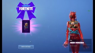 Unlocking the free Merry MunchKin Pet   Probably the best Pet You can have in fortnite 