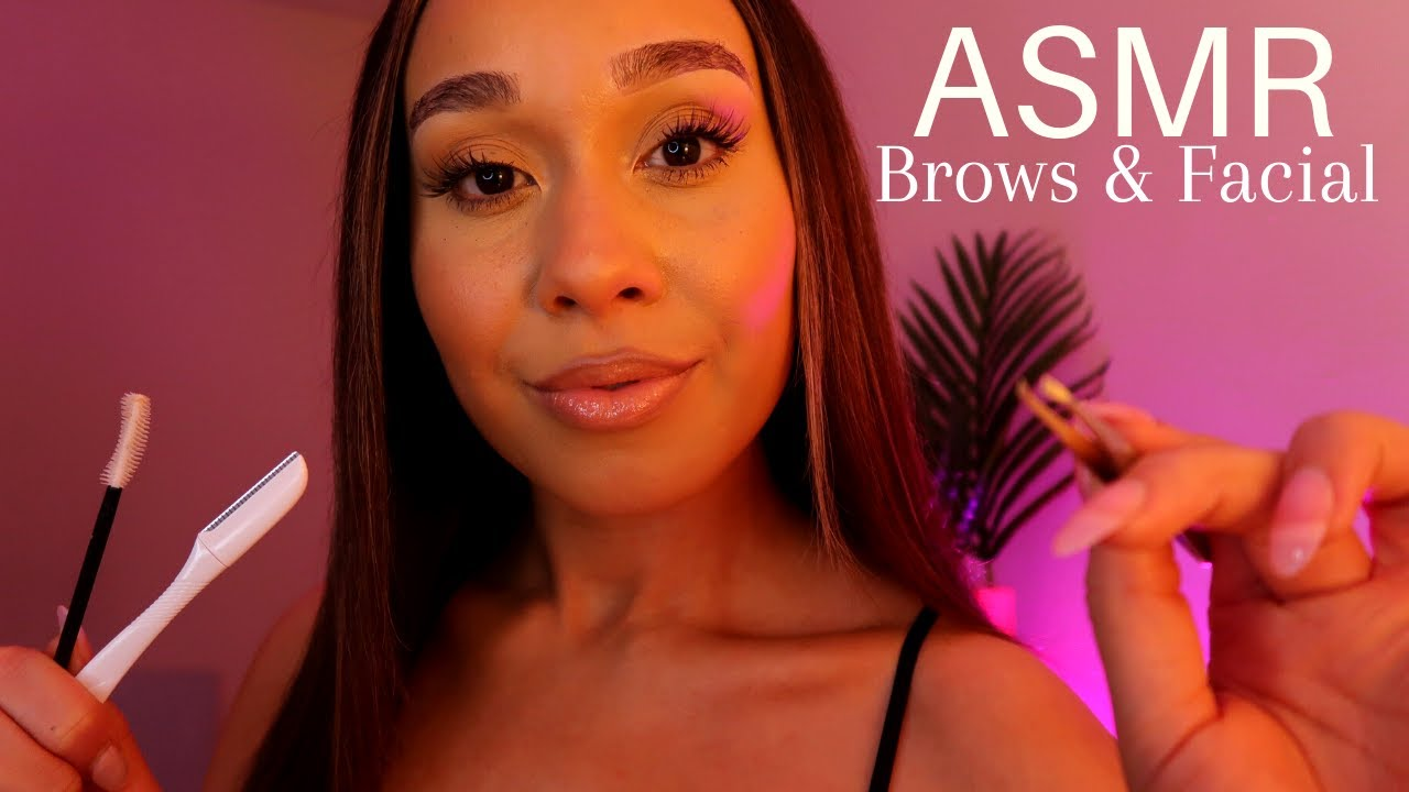 ASMR Dreamy Pampering Personal Attention ☁️ Brows & Skincare Facial