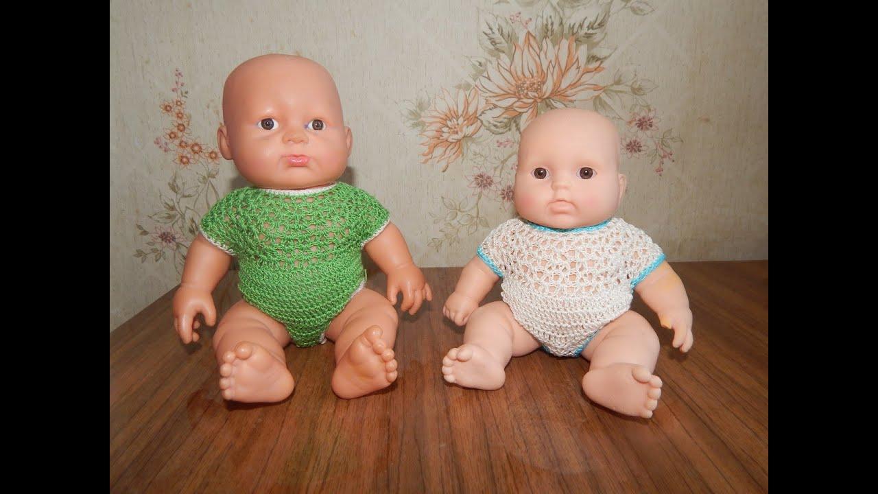 одежда для кукол крючком боди для пупса Youtube