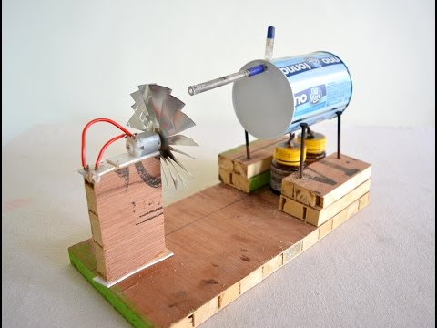 How to make Steam Power Generator - a cool science project w