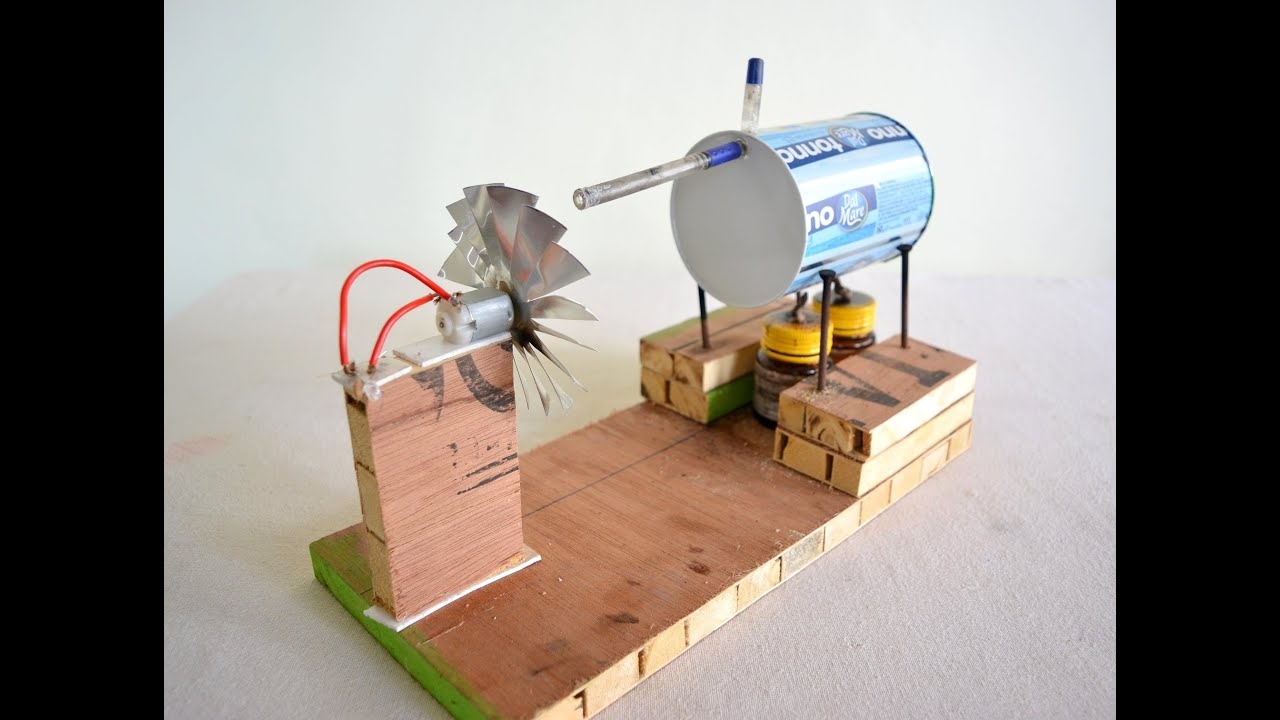 How to make Steam Power Generator a cool science project with