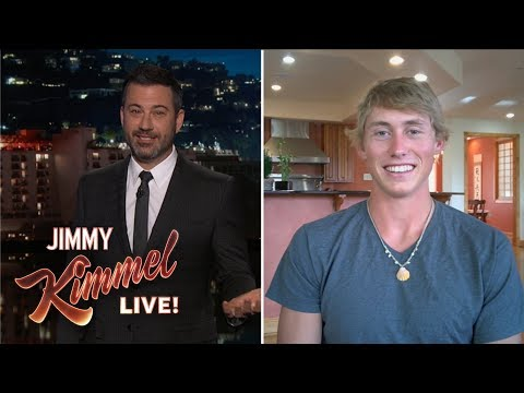 Jimmy Kimmel Interviews 20-Year-Old Attacked by Snake, Bear & Shark
