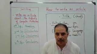 learn how  write an article in english   تعلم كيفية كتابة مقال بالإنجليزية