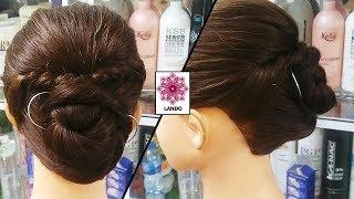 Bới tóc đẹp xoắn cao sau ngáy gọn gàng! Kiểu bới gọn nhẹ dành cho phụ nữ trung niên dự  tiệc Kiểu 30