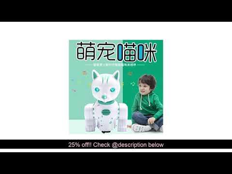 Review Electric Universal Smart Doraemon Remote Control Music Lights Voice Pet Dancer Walking Early