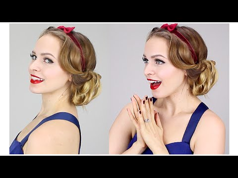 Easy Snow White Updo (1930s!)