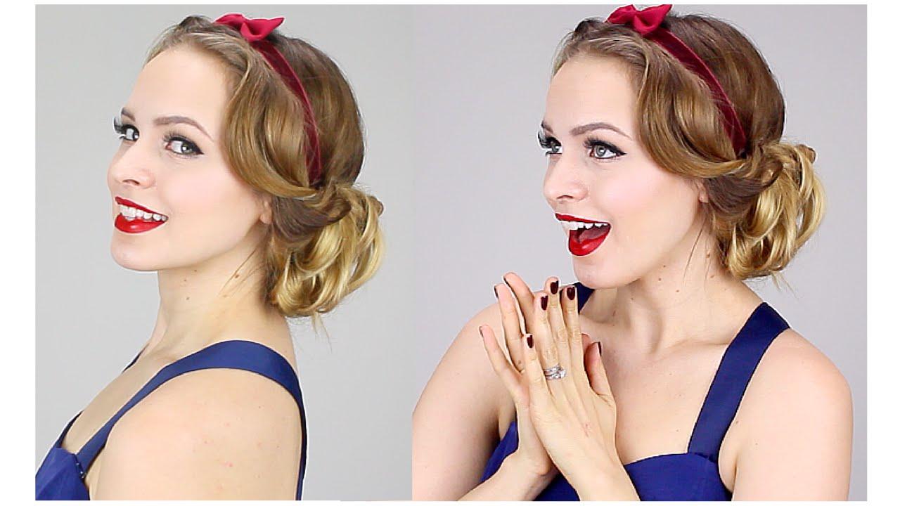 Easy Snow White Updo 1930s! YouTube
