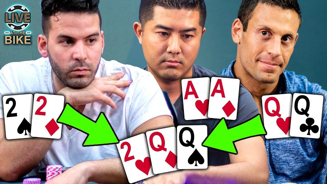 QUADS vs FULL HOUSE vs ACES [AA] on the Flop!!! + FLUSH vs FLUSH vs STRAIGHT!!! High Stakes Poker