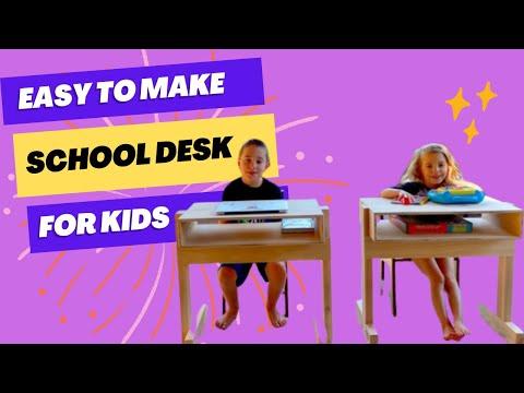 DIY Kids School Desk - Quick, Easy, Inexpensive!