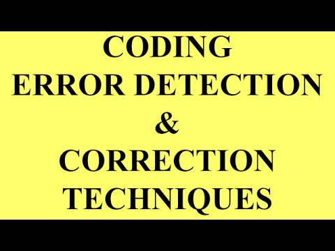 CODING ERROR DETECTION AND CORRECTION TECHNIQUES | BSNL JE (TTA) |JTO