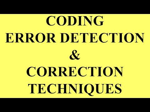 CODING ERROR DETECTION AND CORRECTION TECHNIQUES | BSNL JE (TTA) |JTO