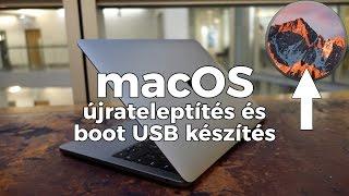 macOS Sierra újratelepítés és boot USB flash drive készítés - #macOS101