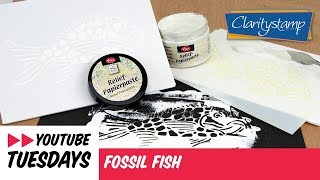 Stencilling How To - Fossil Fish