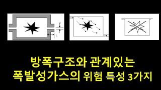 방폭구조와 관계있는 폭발성가스위험특성3가지